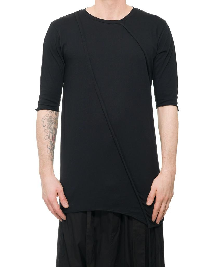 COTTON SHIRT WITH SIDE STRINGS