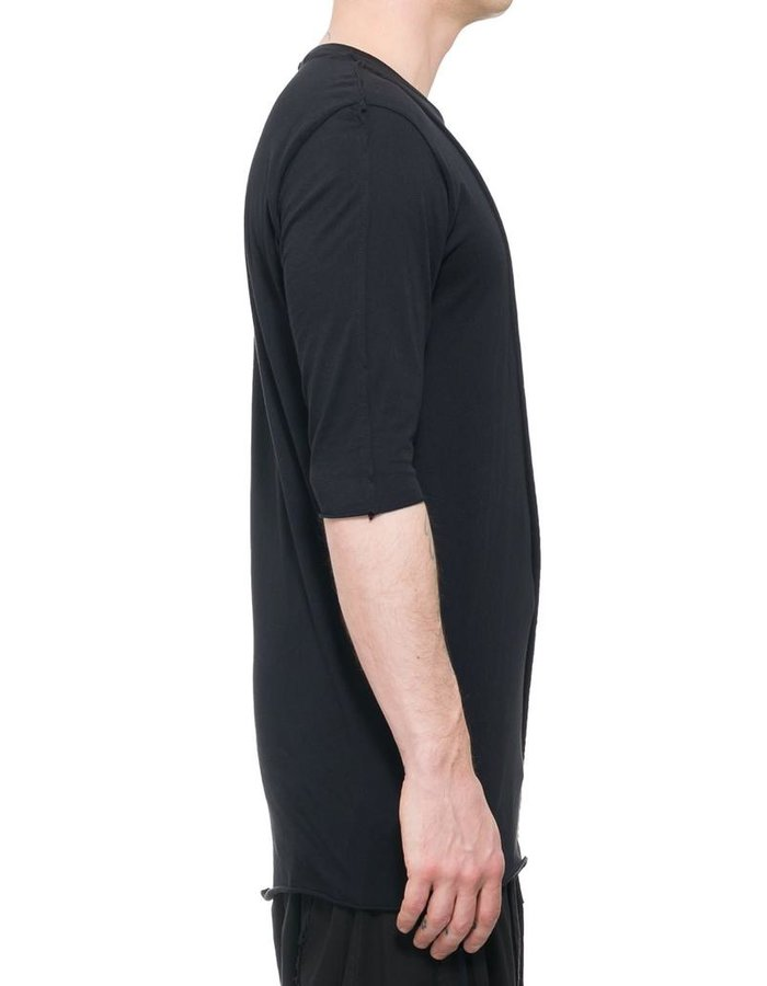 LA HAINE INSIDE US COTTON SHIRT WITH SIDE STRINGS