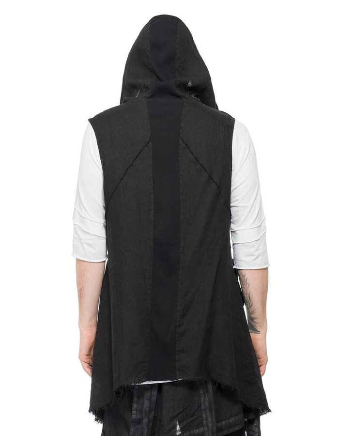 LA HAINE INSIDE US HOODED LINEN VEST