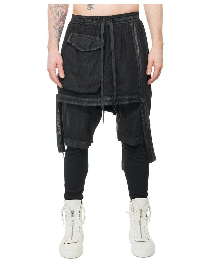 LA HAINE INSIDE US LAMINATED CONVERTIBLE OVERALLS