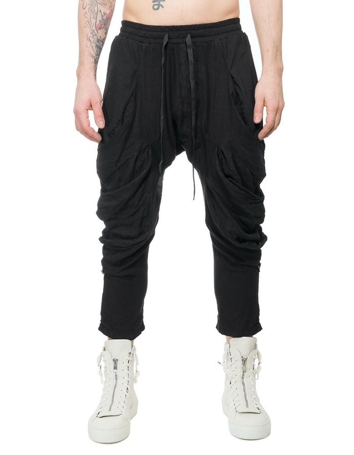 LA HAINE INSIDE US SLOUCH POCKET LINEN TROUSERS