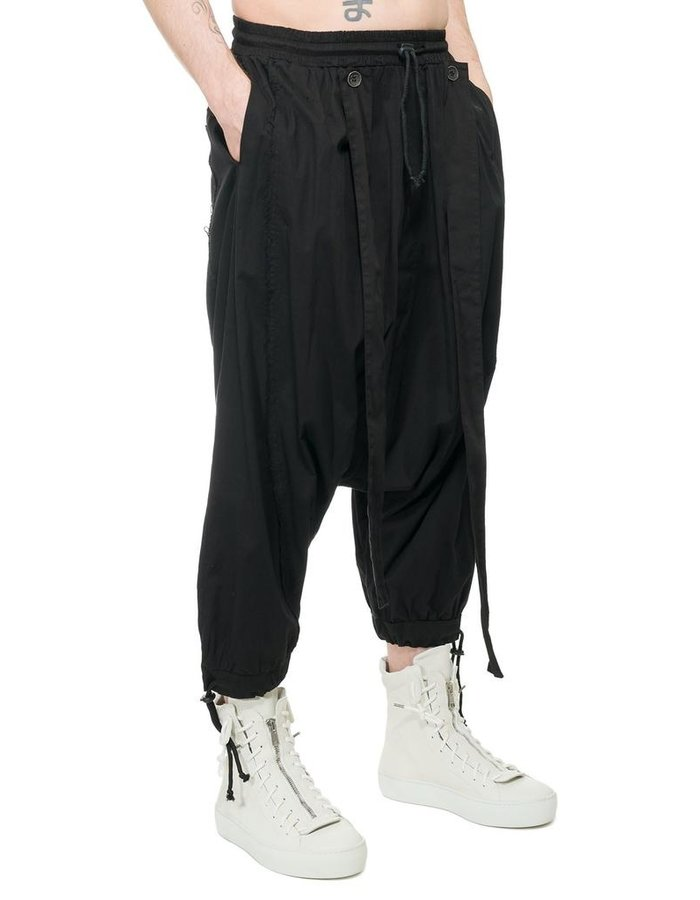 LA HAINE INSIDE US DROP CROTCH CONVERTIBLE PANT WITH STRAPS
