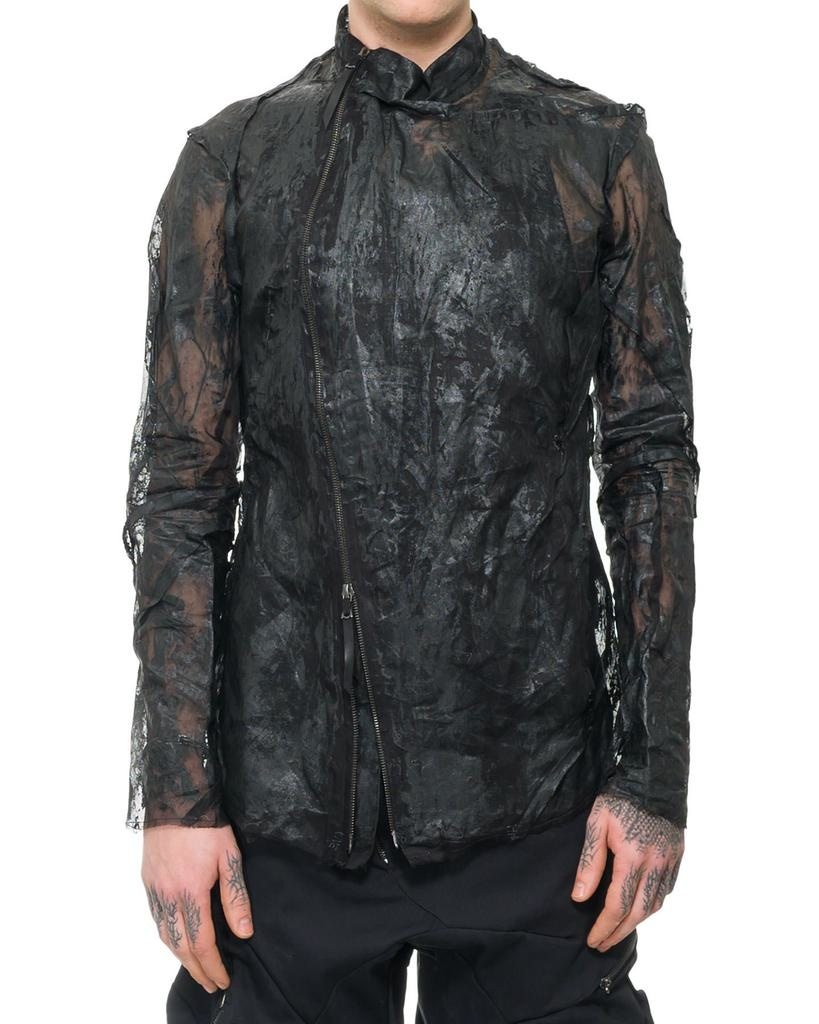 DISTORTION RESIN COATED FENCING JACKET