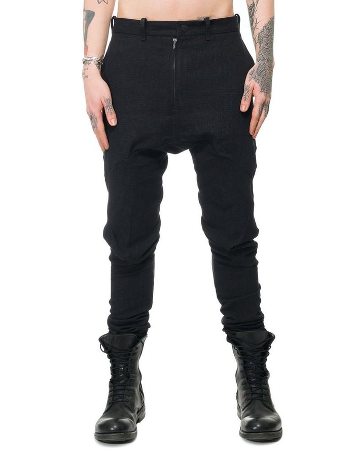 LEON EMANUEL BLANCK FORCED FITTED LONG PANTS