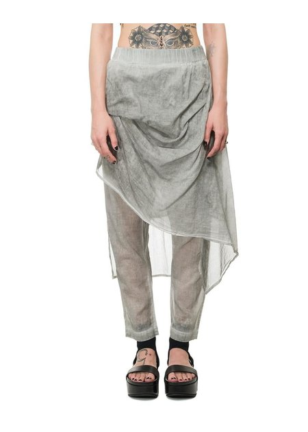 STUDIO B3 SKIRTED PANEL DROP CROTCH PANT