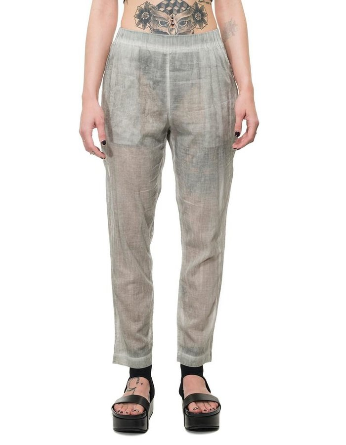 STUDIO B3 LUCER LOW CROTCH COTTON GAUZE TROUSERS