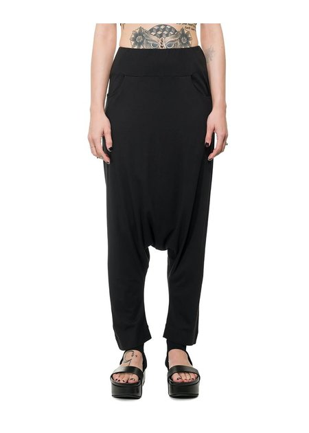 STUDIO B3 LIGHTWEIGHT JERSEY DROP CROTCH PANTS