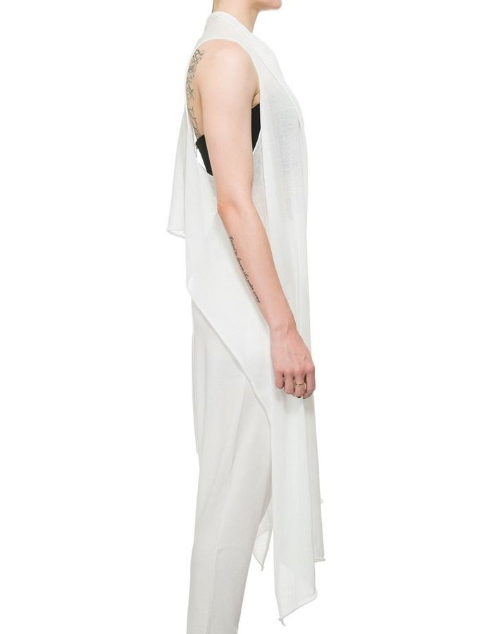 STUDIO B3 DRAPED GAUZE VEST