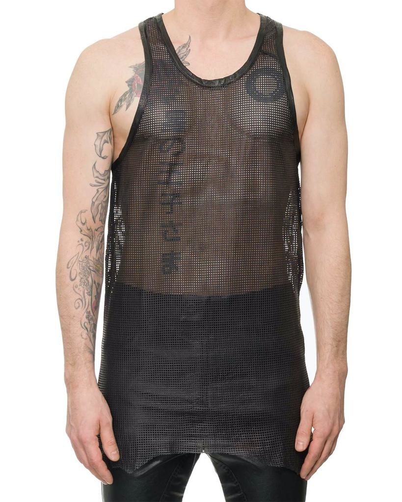 PERFORATED LEATHER TANK TOP - CUBO