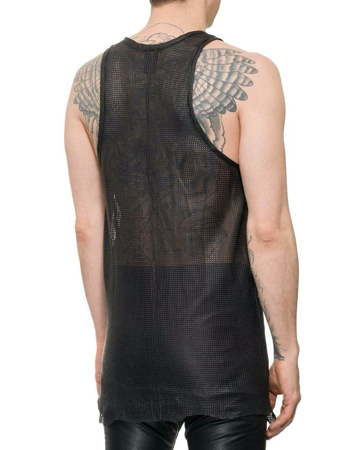 M-OJO RISIN' PERFORATED LEATHER TANK TOP - CUBO