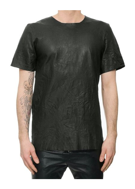 M-OJO RISIN' WASHED LEATHER SHORT SLEEVE - BURRO
