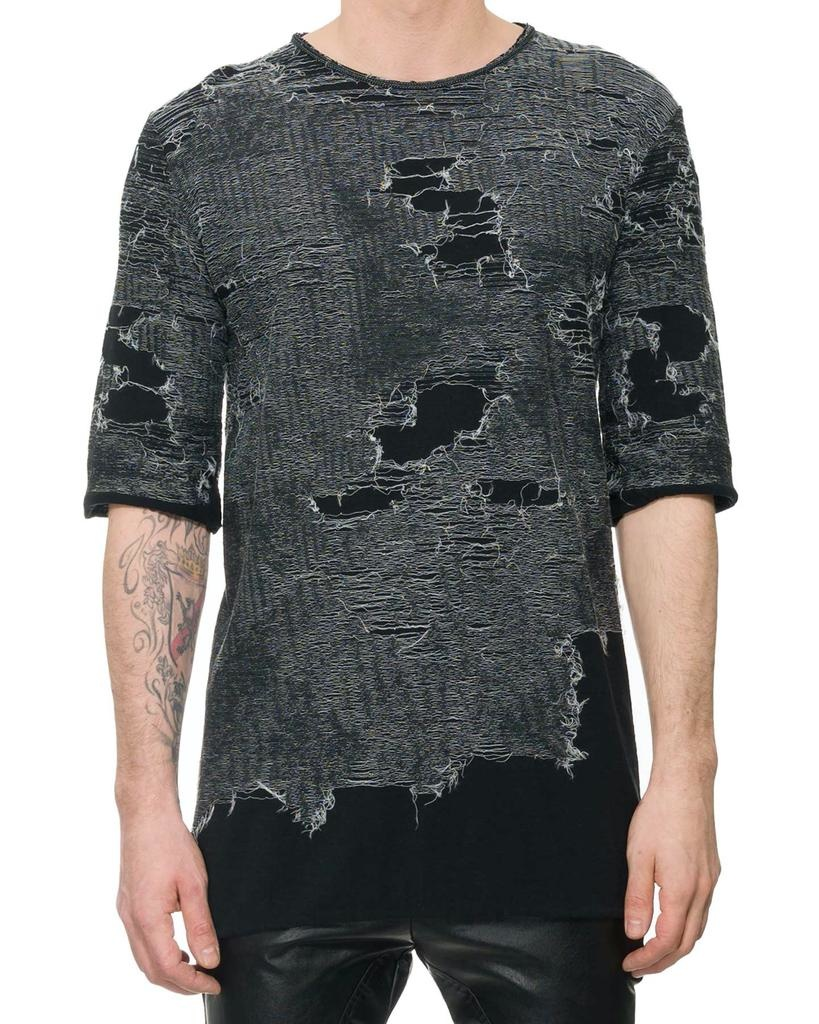 CONTRAST EMBROIDERY T-SHIRT