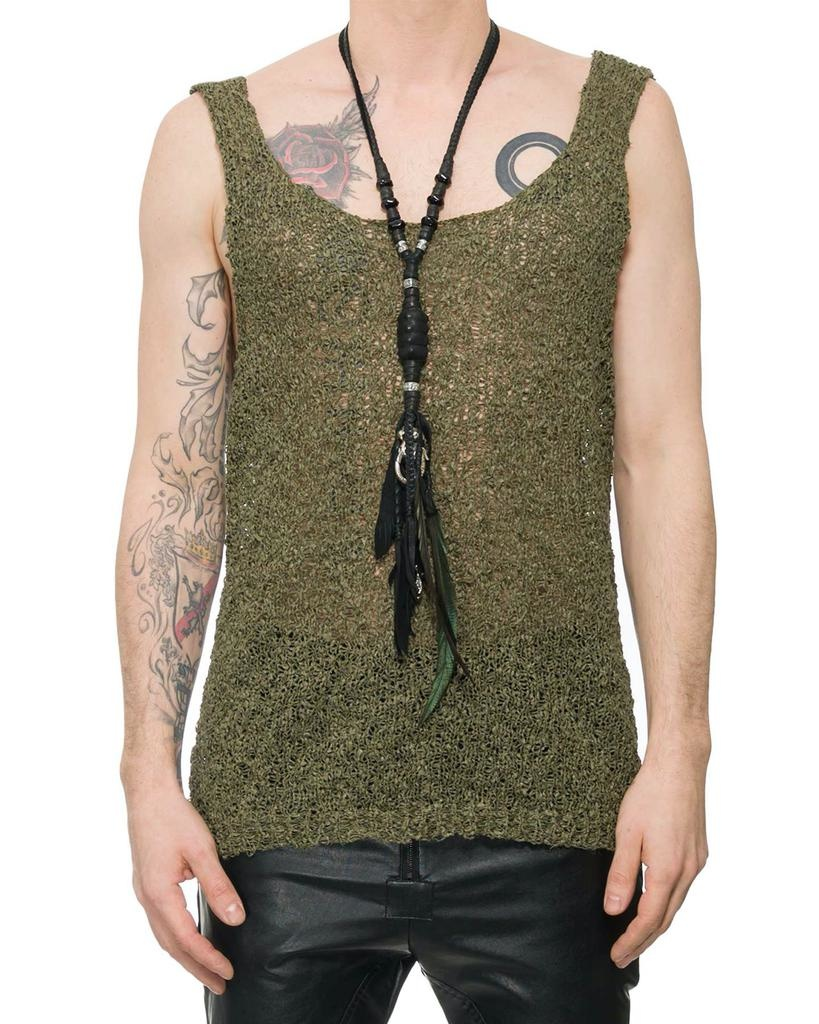TEXTURED HAND KNIT TANK TOP