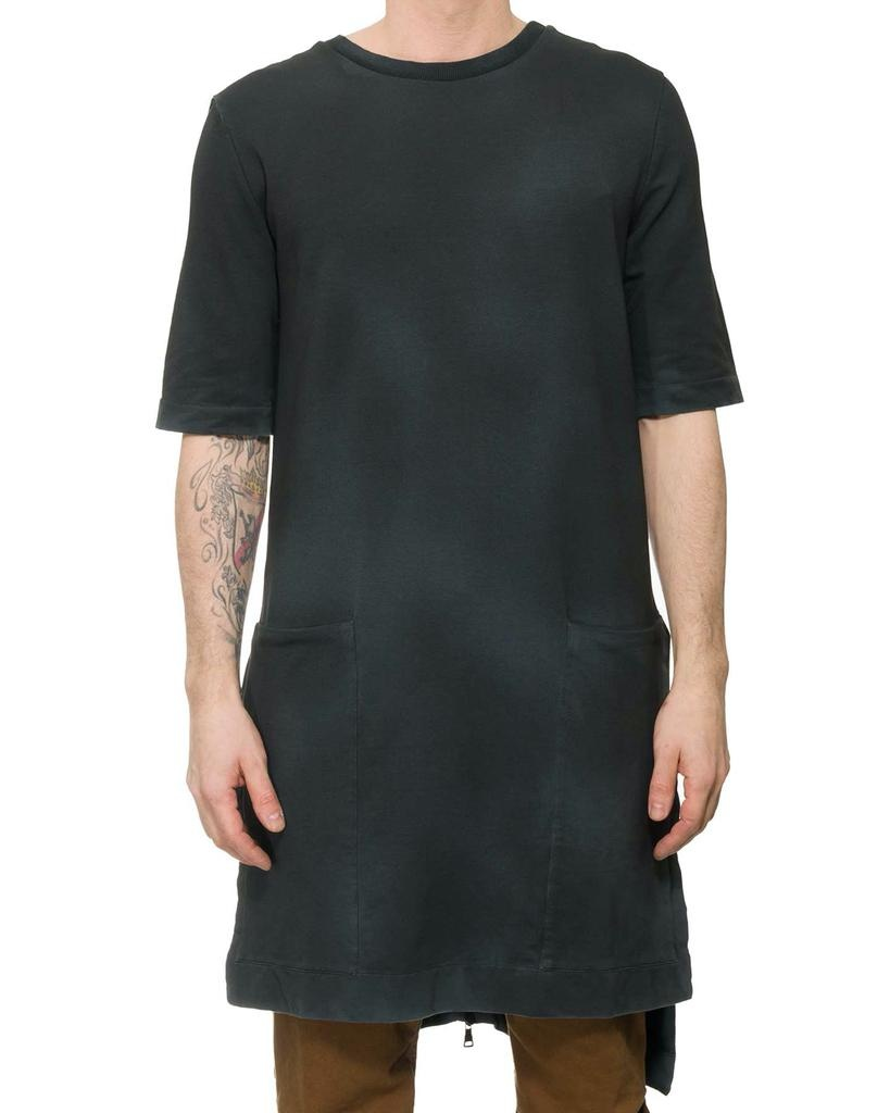 LONG TUNIC WITH ZIPPERED BACK