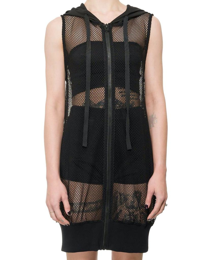 LONG MESH HOODED VEST