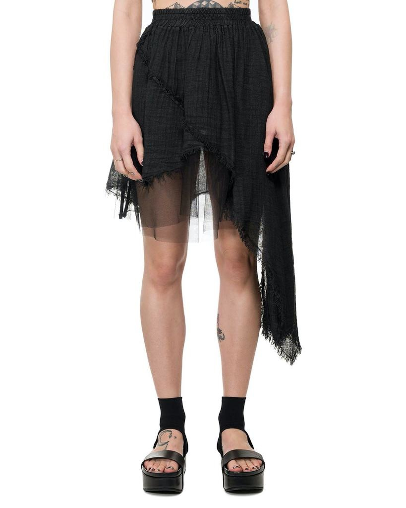 ASYMMETRIC GAUZE SKIRT