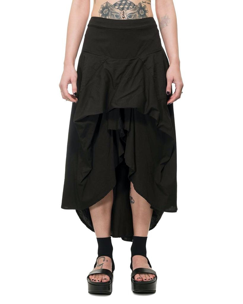 STRETCH ASYMMETRIC COTTON SKIRT