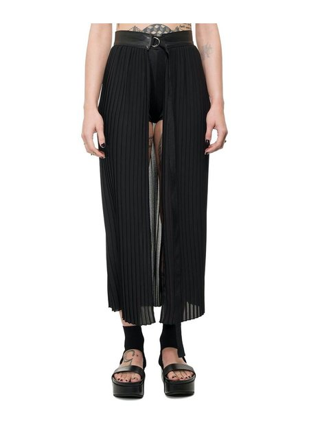 LA HAINE INSIDE US PLEATED WRAP SKIRT