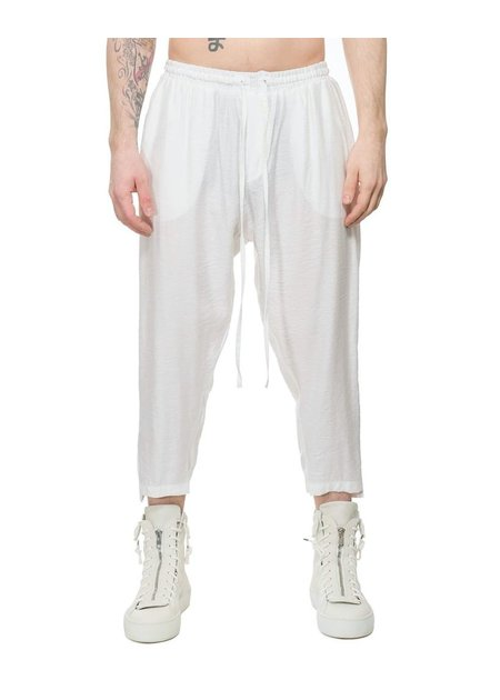 DAVID'S ROAD LIGHTWEIGHT CREASED COTTON TUXEDO PANT