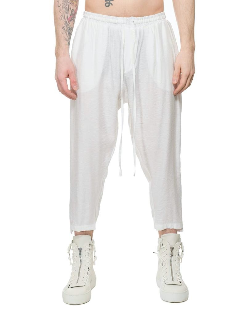 LIGHTWEIGHT CREASED COTTON TUXEDO PANT