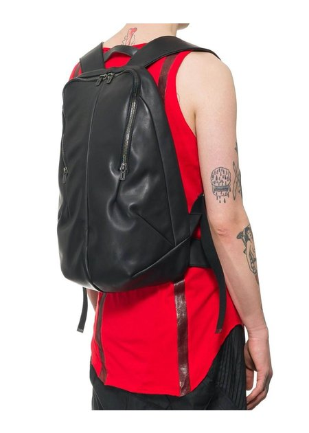 D. HYGEN HORSE LEATHER VEST W/ BACKPACK