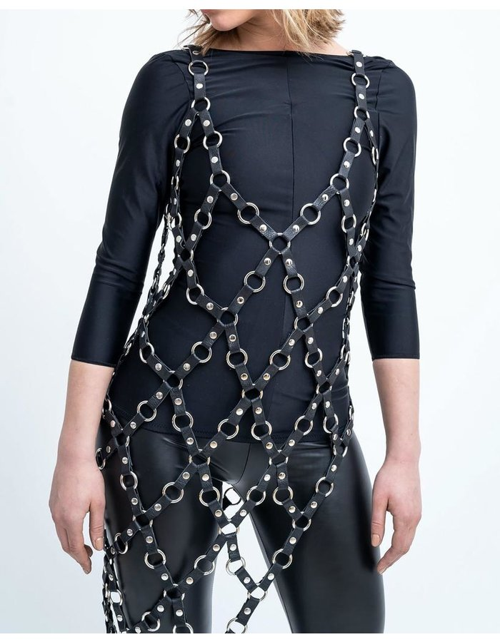 ZORA ROMANSKA ASYMMETRIC METAL RING DRESS