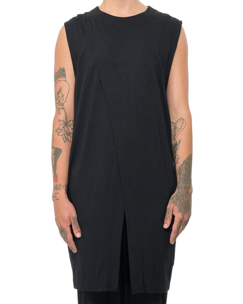 SLEEVELESS JERSEY WRAP TOP