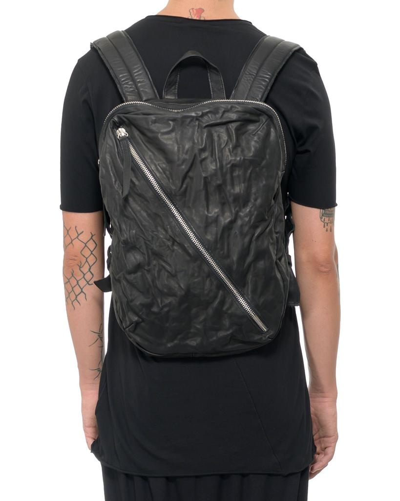 LEATHER DIAGONAL ZIP BACKPACK MINI