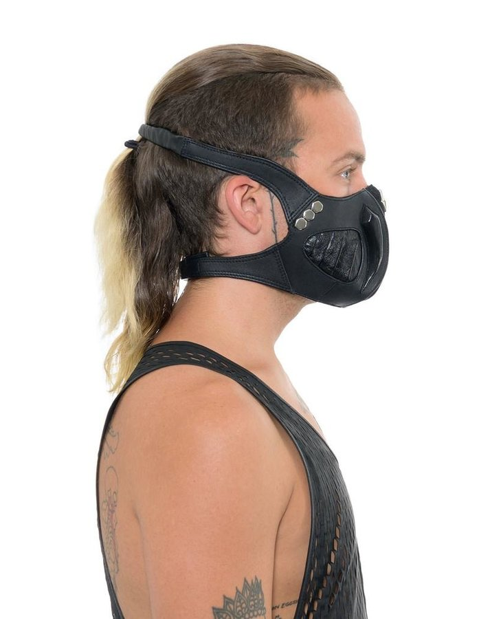 KD 2024 LEATHER AND STERLING FACE MASK