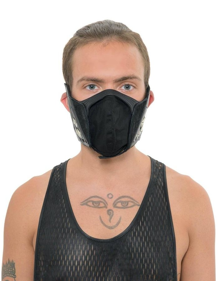 KD 2024 HARNESS LEATHER AND STERLING FACE MASK