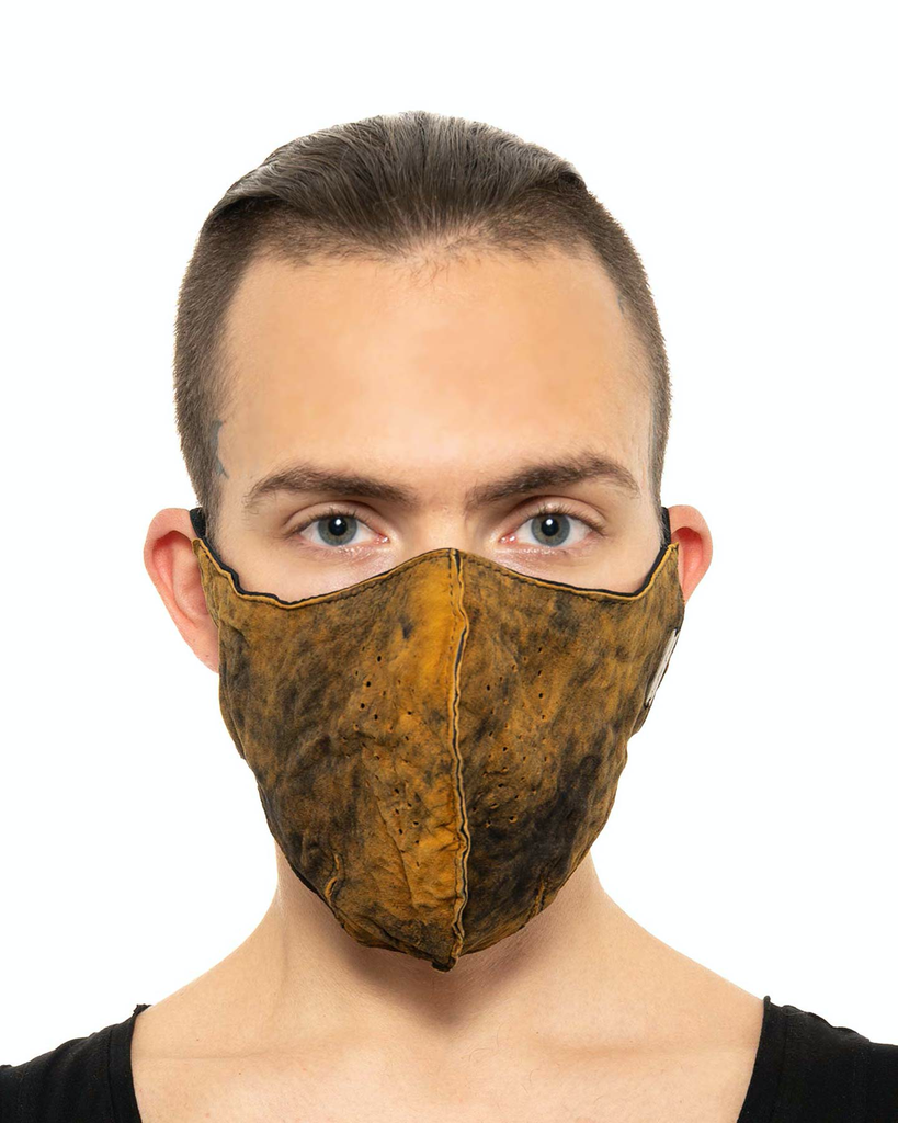 WRINKLED LEATHER FACE MASK