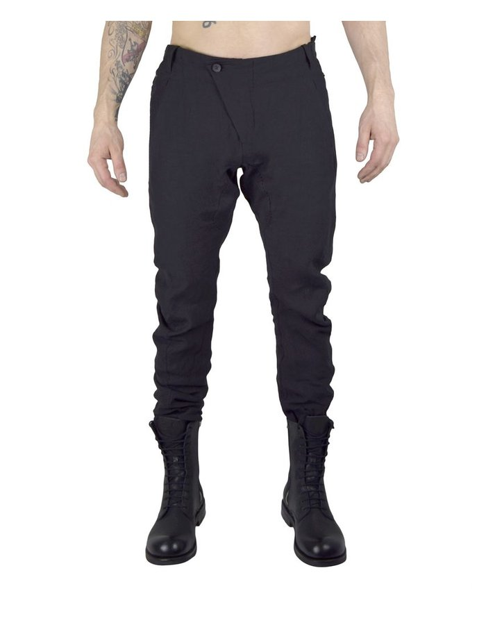 MASNADA ASYMMETRIC FLY PANT -ZIP POCKETS :BLK