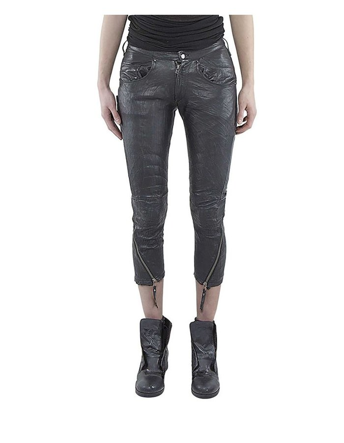 BARBARA I GONGINI GONGINI LEATHER PANT WOMAN