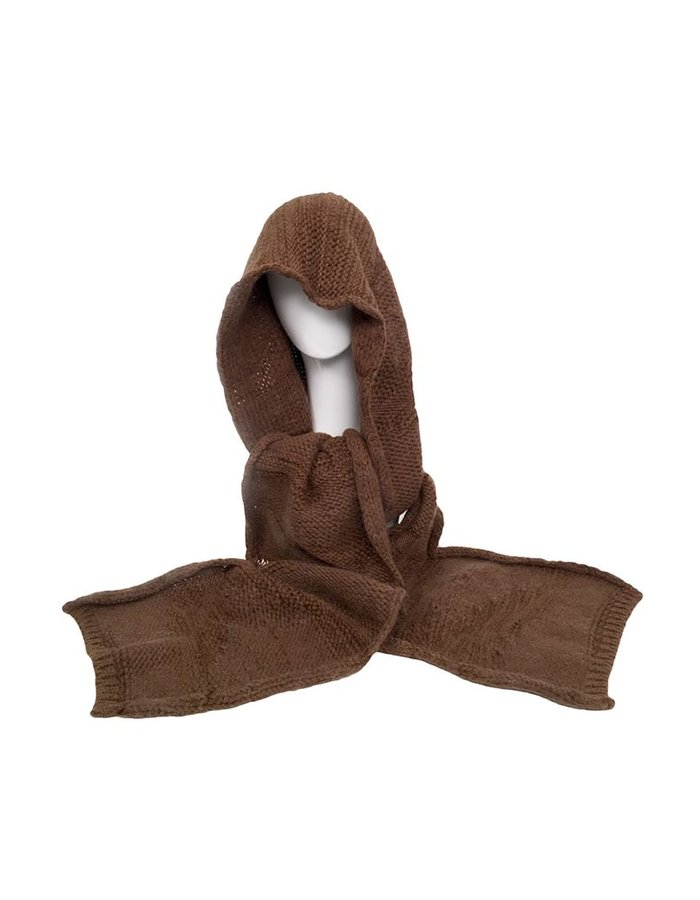 ISABEL BENENATO KNITTED HOOD SCARF