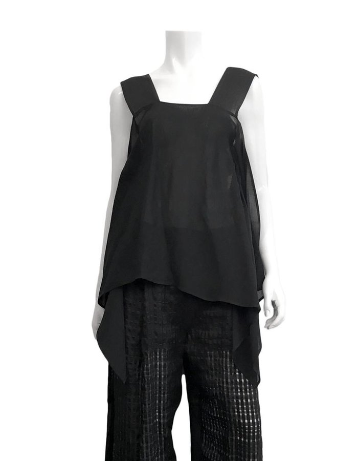 LOST AND FOUND LINEN VISCOSE BANDED TOP
