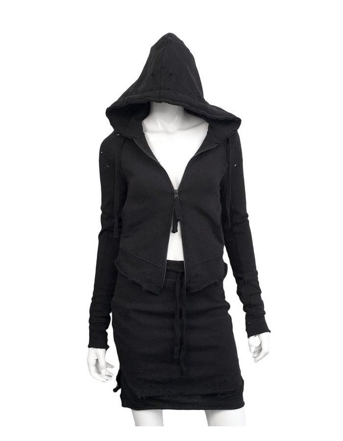 THOM KROM HOODY WITH HOLES