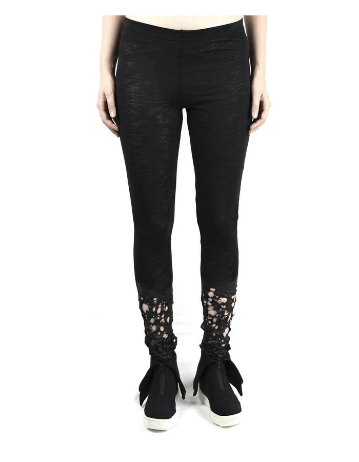 SANDRINE PHILIPPE LEGGINGS FLAMED BOTTOM WITH SILICONE