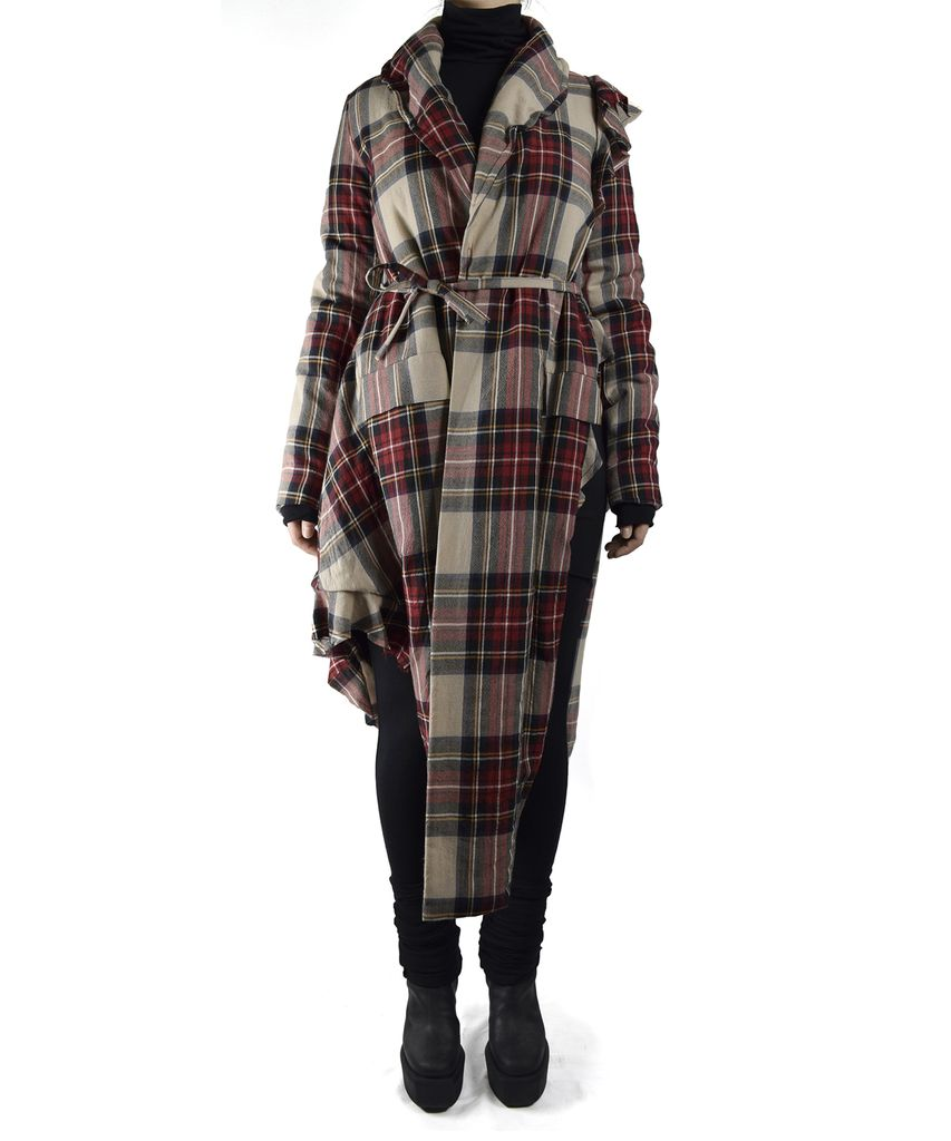 PLAID POSSESION COAT
