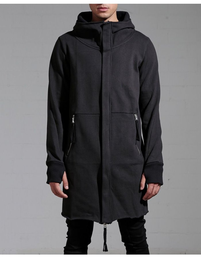 THOM KROM LONG ZIP UP HOODED JACKET