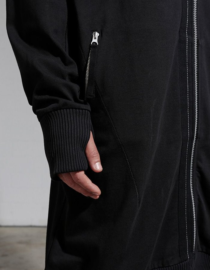 THOM KROM EXTENDED COTTON ZIP UP JACKET