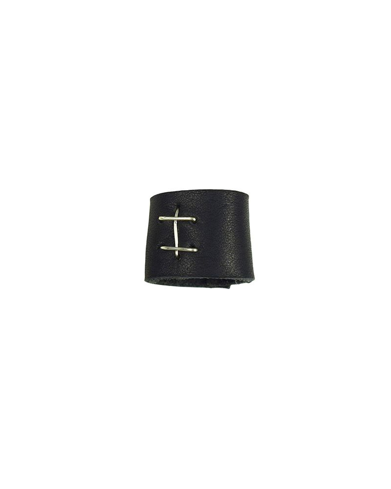 LEATHER RING :BLK