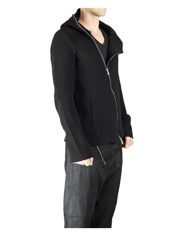 10SEI0OTTO WOVEN HOODED WOOL CARDIGAN