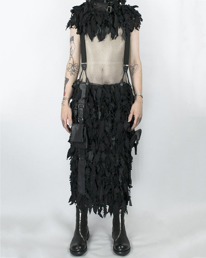 """FEATHERED"" UTILITY KILT WITH SUSPENDERS"