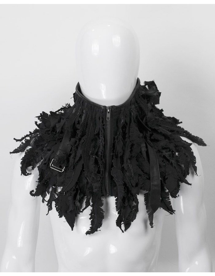 "SANDRINE PHILIPPE ""FEATHERED"" NECKPIECE"