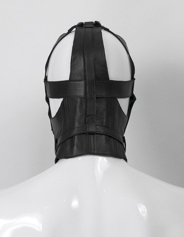 SANDRINE PHILIPPE LEATHER WRESTLING CAP