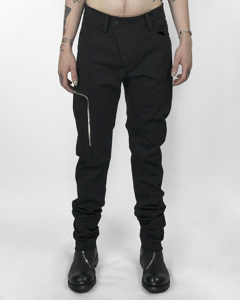 SLIM PANT WITH ZIPPERED POCKET BLACK