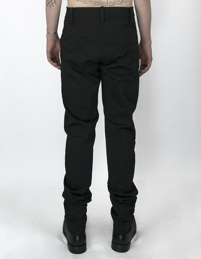 LOST AND FOUND ROOMS SLIM PANT WITH ZIPPERED POCKET BLACK