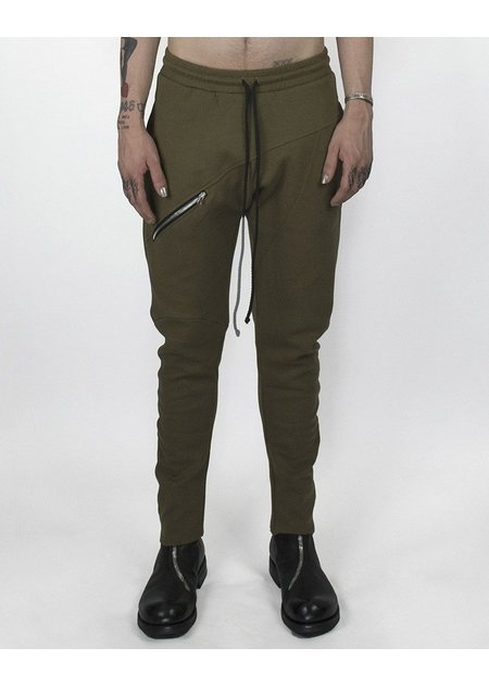 LOST AND FOUND ROOMS COTTON ZIP PANT BRONZE