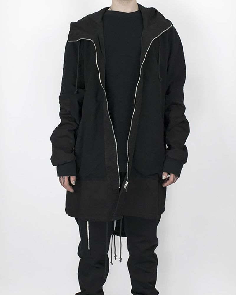 OVERSIZED HOODED PARKA BLACK