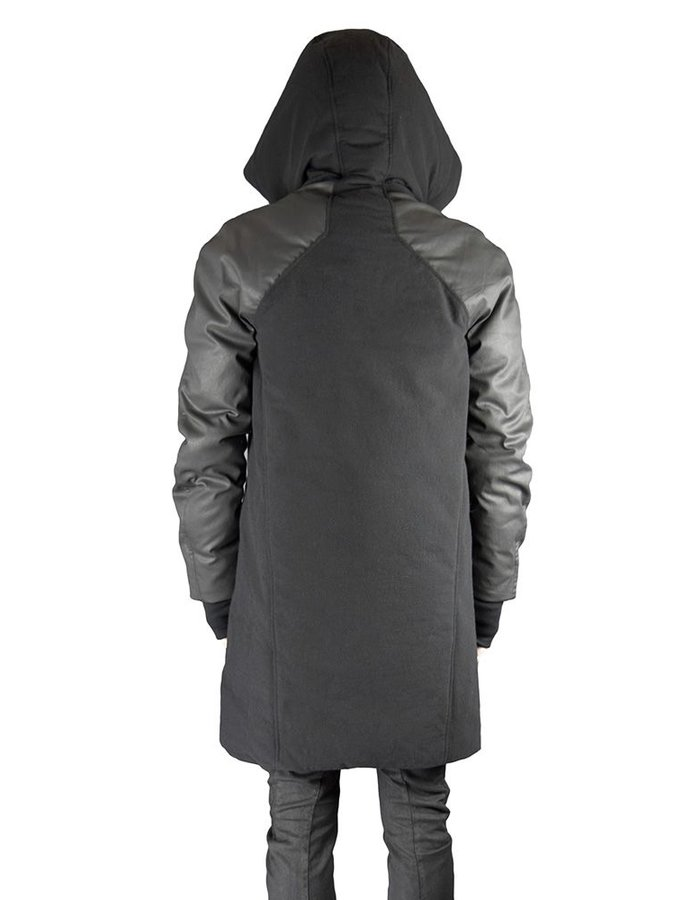 ANDREA YA'AQOV DOWN COAT WITH RESIN COATING